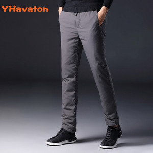 Image 1 - YHavaton Mens 90% White Duck Cold proof Pants 2020 Winter Straight outside wear Business Pants Warm Duck Down Padded Trousers