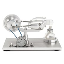 New Arrival Stainless steel Mini Hot Air Stirling Engine Motor Model Educational Toy Science Experiment Kit
