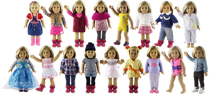 New Style 5 Set Doll Clothes for 18 Inch American Girl Handsome Casual Wear new style 10 set doll clothes for 18 inch american girl handmade casual wear