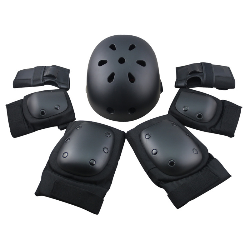 6 Pieces Pads Elbow Wrist Knee Pad For Outdoor Sports Protective Kit Inline Speed Skating Racing Cycling Skateboard S M L 400g