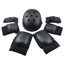 6 sztuk ochraniacze na łokieć Wrist Knee Pad dla sportu na świeżym powietrzu zestaw ochronny prędkość liniowa jazda na łyżwach wyścigi jazda na rowerze deskorolka S M L 400g tanie tanio NoEnName_Null Uniwersalny CN (pochodzenie) Sports protector