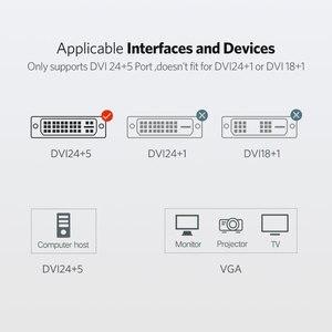Image 3 - Ugreen 1080P DVI i 24 + 5 لمحول VGA DVI ذكر إلى VGA ذكر محول كابل فيديو رقمي محول ل شاشة كمبيوتر شخصي HDTV العارض