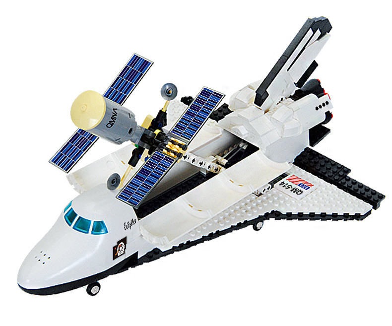 Legoe Compatible Enlighten Bricks Space Shuttle Space War DIY Educational Toys For Children Gifts Building Blocks Diy Kit 593PCS 128pcs military field legion army tank educational bricks kids building blocks toys for boys children enlighten gift k2680 23030