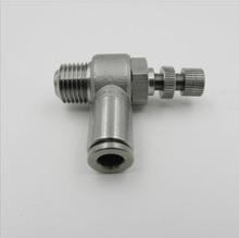Размер трубки 6мм-4 PT темы пневматический нержавеющей стали 316 нажим в штуцерах контролировать скорость воздушного потока