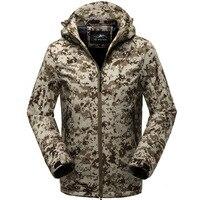 LEFT ROM Shark Skin Soft Shell Military Tactical Jacket Men Waterproof Army Fleece Clothing Multicam Camouflage Windbreakers 5XL