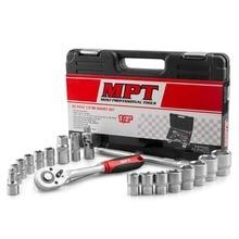 MPT 22 шт 1/2 «гнездо комплект, Привод гнездо ручка с Quick-Release Функция мульти-разъем с комплект чехол