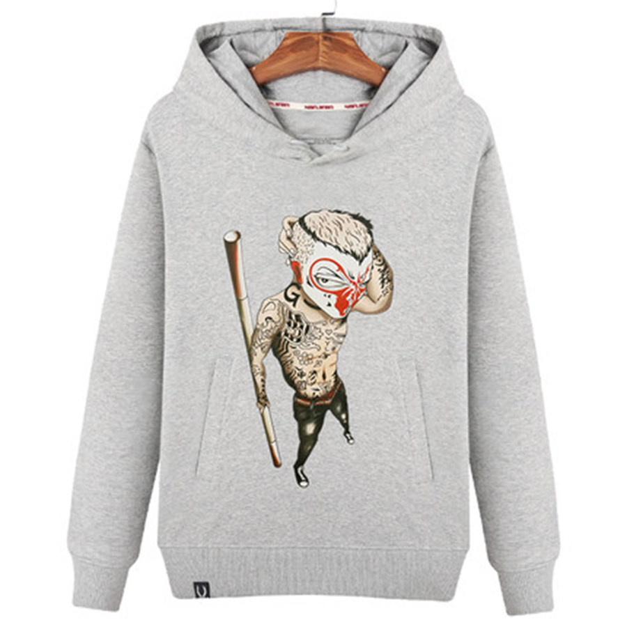 Hommes femmes Hipster Doraemon singe chat imprimé Sweatshirts hommes drôle solide coton Swag sweat à capuche automne hiver vêtements 50WY017