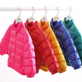 The winter jacket collar children Korean casual clothes coat boy girl pure warm down jacket for 1-8 years