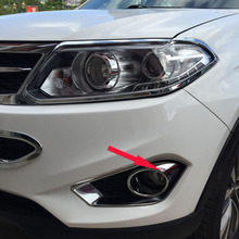 Free Shipping High Quality ABS Chrome Front Fog lamps cover Trim Fog lamp shade Trim For Chery Tiggo 5 цена 2017