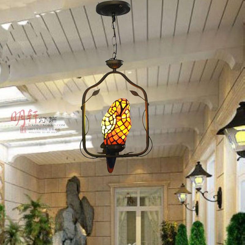 Tiffany art pendant lamp art pendant lamp study balcony casual dining room ceiling lamp art lamp