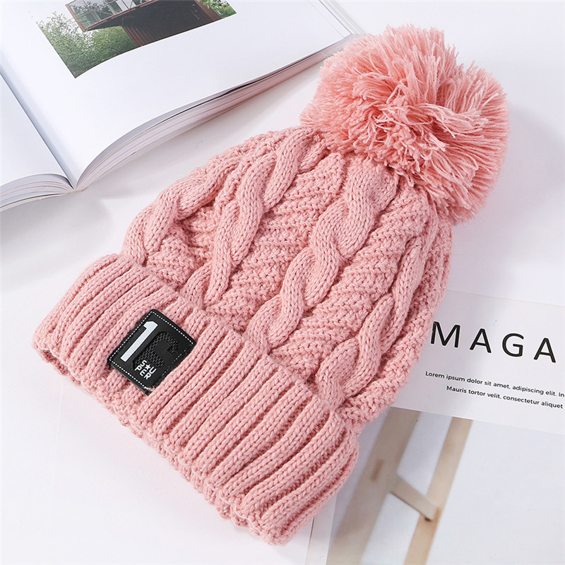 7287fab1c USPOP New Fashion Women Thick Winter Hats Number Label Velvet ...