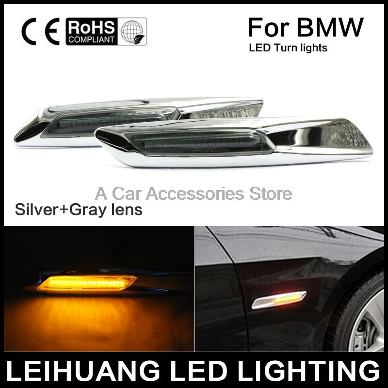1 pair Auto Car LED Fender Side Lamp Marker Turn signal Lights Amber For BMW E81 E82 E87 E88 E90 E91 E92 E93 E60 E61