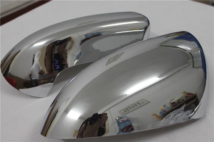 2 pièces ABS Chrome Rétroviseur Côté Rétroviseurs extérieurs Garniture de Couverture de voiture pour Nissan Qashqai 2007 2008 2009 2010 2011 2012 2013