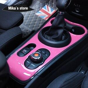Image 3 - New Car indoor protetto ABS stile Ray del cambio center console pannello per mini cooper F60 countryman auto styling decorazione sticker