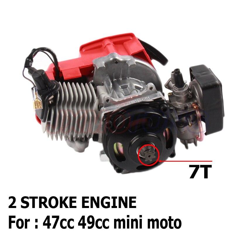 חדש מעולה באיכות 43cc 47cc 49cc 2 שבץ מנוע עבור מנוע מיני QUAD רקטות כיס אופניים