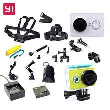 Edición internacional!! original xiaoyi yi wifi acción del deporte ambarella cámara + accesorios kit + batería extra para xiaomi yi cámara