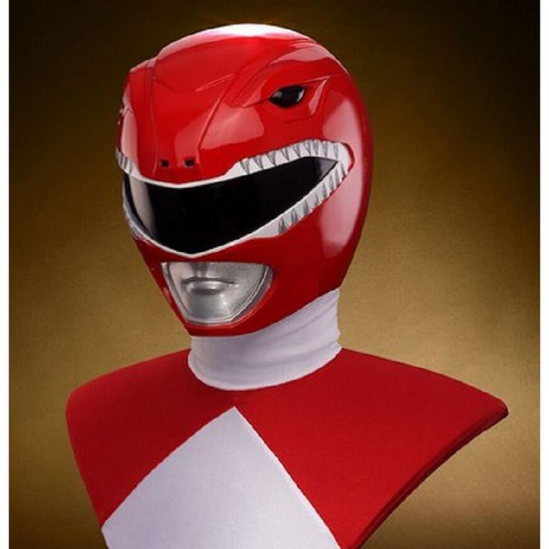 Zyuranger Cosplay Helmet Red Rangers PVC Mask Hero Costume Props Full Head Mask Halloween Carnival Accessories Helmet Red Mask monster printed halloween decor head mask page 8