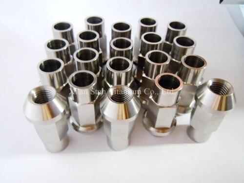 Titanium TC4 Car Wheel Bolts Complete Stud Racing Conversion Kit Lug Nuts 12 X 1.5 X 45mm / 12 X 1.25 X 45mm