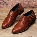 Microfibra grandes sapatos tamanho EUA 9 homens grife plana sapatos feitos à mão marrom preto vermelho 2017 sping sapatos oxford para homens altura interior
