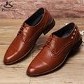 Microfibra zapatos grandes EE.UU. tamaño 9 de los hombres del diseñador zapatos planos hechos a mano rojo marrón negro 2017 sping zapatos oxford para los hombres altura interior
