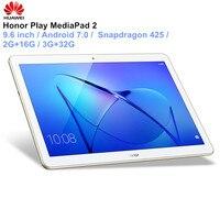 HUAWEI Honor Play MediaPad 2 планшеты PC 9,6 дюймов Android 7,0 4 ядра Bluetooth 1280x800 планшеты с модулем Wi Fi 3 Гб 32 Встроенная память LTE Ver