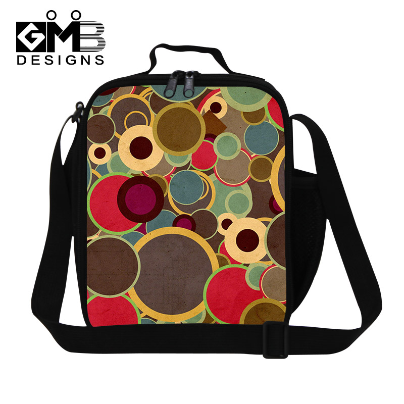 Dot Printed Lunch bag Girls Childrens Thermal Lunch Box Bag,Women Work Lunch Bags,Kids Insulated Colorful Meal Bags for School