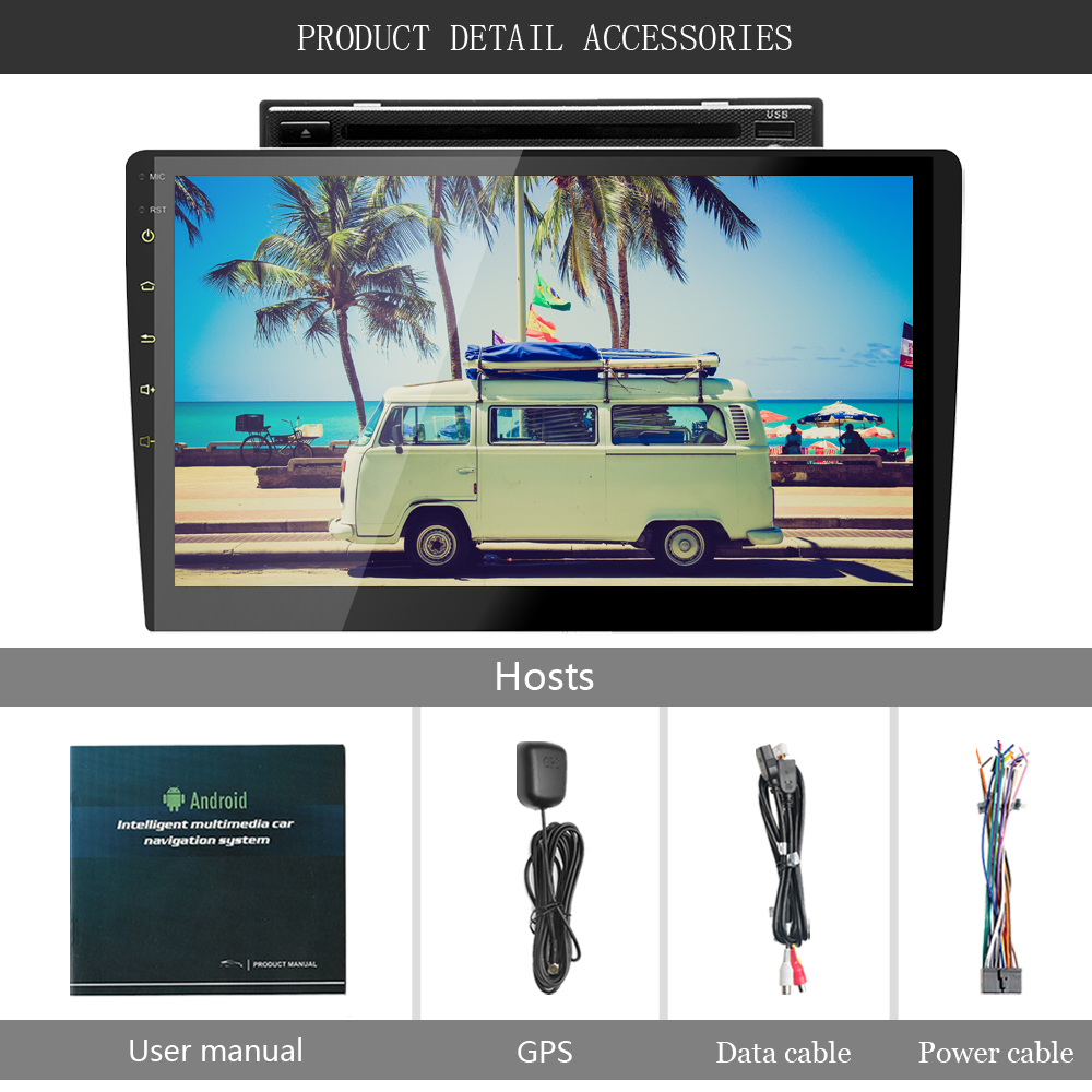 Podofo 2 din Android autoradio GPS Navigation 10