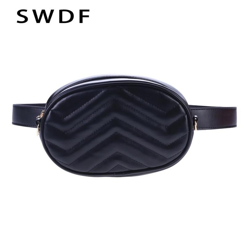 SWDF 2018 New Bags Women Pack Waist Bag Women Round Belt Bag Luxury Brand Leather Chest Handbag Fanny Packs Shoulder Bag Purse цена 2017