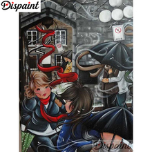 Dispaint Full Square/Round Drill 5D DIY Diamond Painting Cartoon woman 3D Embroidery Cross Stitch Home Decor A06309