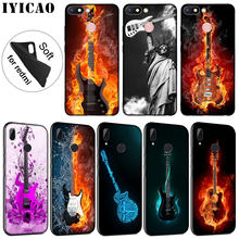IYICAO Music guitar DJ luxury Soft Silicone Phone Case for Xiaomi Redmi K20 8A 7A 6A 5A S2 4X 4A GO Note 8 7 5 Plus 6 Pro Cover(China)