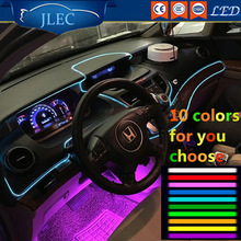 2017 Car-styling Cold Light Decoration Strip EL Wire LED light battery 10Color Tube Rope Flexible Neon Party Wedding Dance Decor