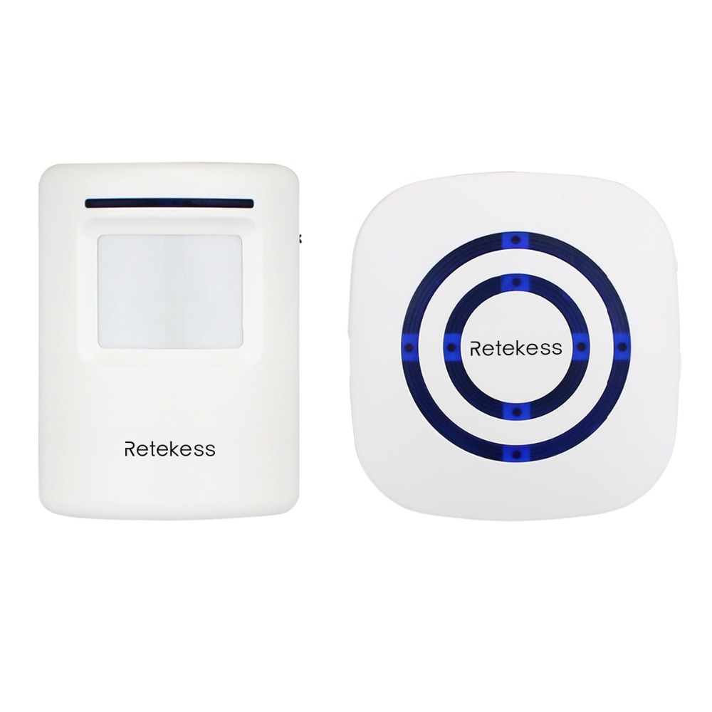 Wireless Chime Alarm Alert Doorbell with PIR Motion Sensor Infrared Detector Induction Gate Entry Door Bell for Home F9506B wireless motion sensor detector gate entry door bell chime alert alarm system lcc77