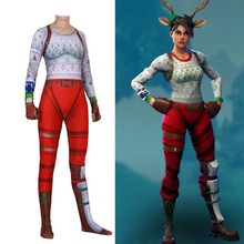 Free shipping adult children's Halloween game RED NOSED RAIDER Cosplay Clothes women bodytights costume jumpsuits JQ-1358 цена и фото