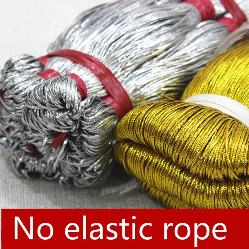 1mm Gold Silver Flat Hollow Elastic Cord Trademark