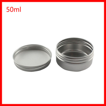 50G metal face cream jar,small candy jar with good seal, aluminum candle packaging metal jar for cream powder100pcs/lot