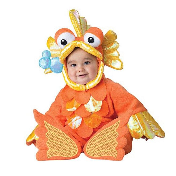 Малышей Золотая рыбка животных Косплэй костюм для Детский спортивный костюм вечерние Show