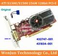 1 ШТ. Оригинальный ATI X1300/X1500 256 М 128-битный pci-e Графической Карты с DMS 59 Кабель для HP 432747-001 431834-001