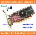 1 PCS Original ATI X1300/X1500 256 M 128bit PCI-E PLACA de Vídeo Placa Gráfica com DMS 59 Cabo para HP 432747-001 431834-001