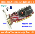 1PCS Original  ATI X1300/X1500  256M 128bit   PCI-E Video Graphic Card with DMS 59 Cable for HP 432747-001   431834-001