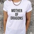 Mujeres MADRE DE DRAGONES Camiseta ocasional de las mujeres camisetas de Algodón o-cuello de las camisetas Para Las Mujeres Atractivas Divertido Letter Print top T-Shirt T-F10104