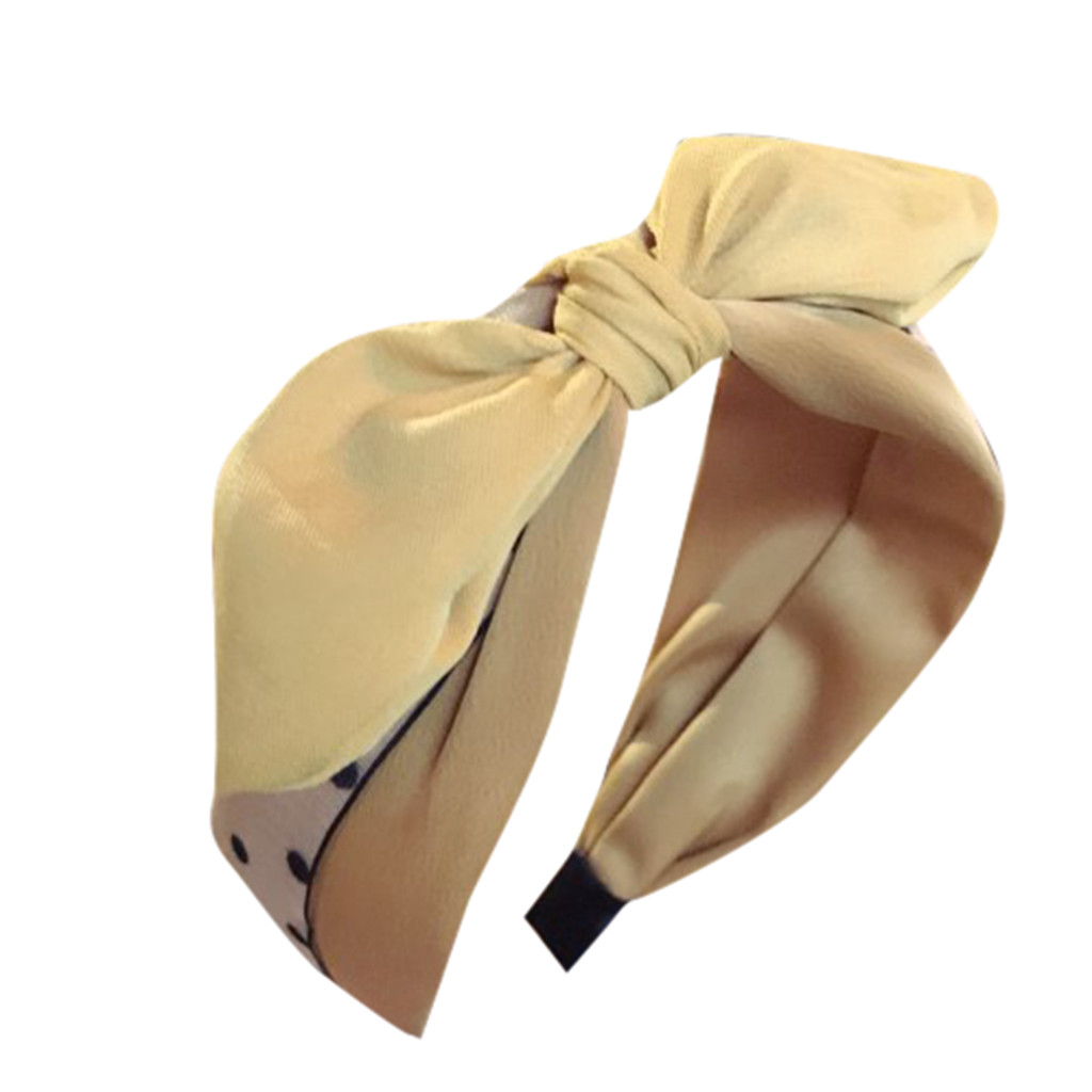 Apparel Accessories Energetic Women New High-end Head Jewelry Wave Point Fabric Cute Playful Rabbit Ears Bow Wide-brimmed Headband Casual Fashion Q0307