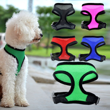 Pet Adjustable Breathable Mesh Harness Dog Nylon Vest Breast-band Puppy Halter Chest Strap for Small Medium Traction Supply