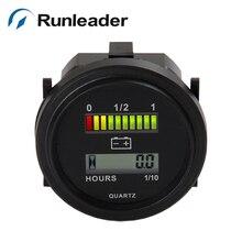 Цифровой светодиодный индикатор заряда аккумулятора 12 В 24 в 36 в 48 в 72 в и lcd счетчик часов для газонокосилки морской гольф Электрический Очиститель