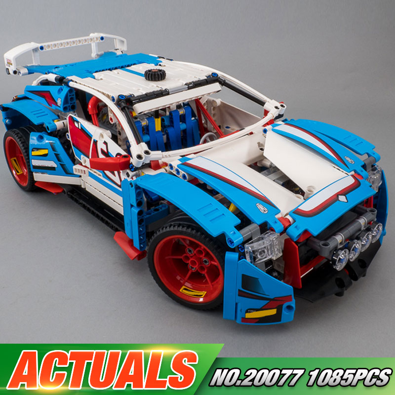 Lepin 20077 Genuine 1085Pcs Technic Series The Rally Car Set 42077 Building Blocks Bricks Educational Funny Children Toys Gifts new lepin super racer series the amg gt3 racing car set children educational building blocks bricks funny toys gifts 75877