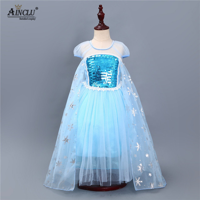 af000614cacca Elsa dress Princess Girl Dresses cosplay party costumes for children snow  queen party dress Frozen Christmas Toddler Girls dress