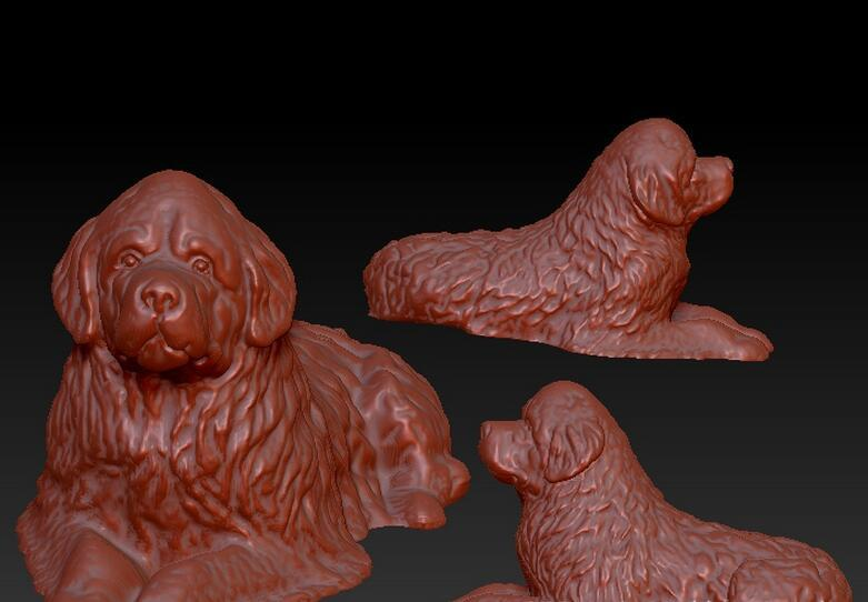 3d Model Relief  For Cnc In STL File Dog_2