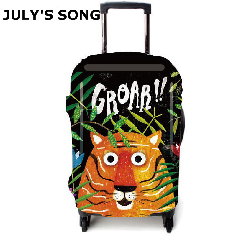 Tiger Design Elastic Luggage Protective Cover For 18 32 inch Trolley Suitcase Protect Dust Bag Case