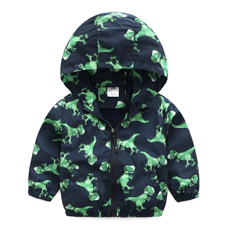 Для маленьких мальчиков пальто с мультяшным принтом 2018 Весенняя детская одежда с длинным рукавом на молнии рубашки для мальчиков пальто с к...