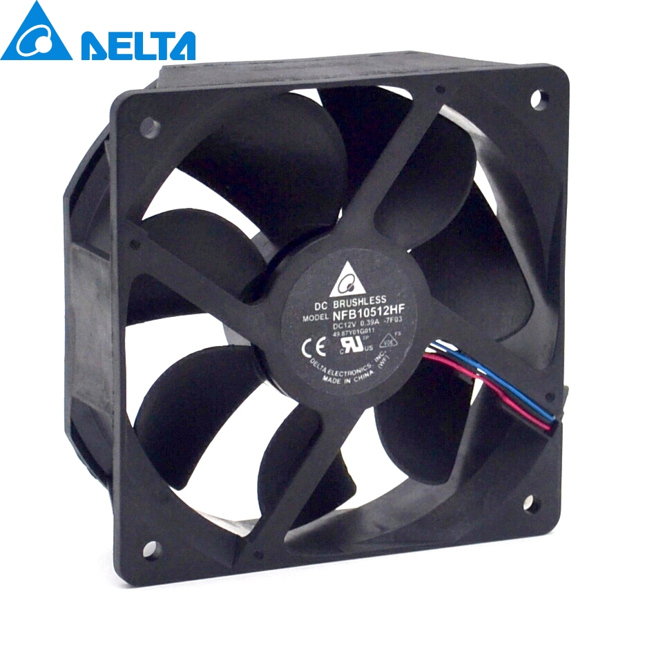 Cooling For NFB10512HF -7F03 DC 12V 0.39A 3-wire 3-pin connector 70mm 105x105x32mm Server Square Cooling fan free shipping for sunon kde0505phb2 dc 5v 1 9w 2 wire 3 pin 50x50x15mm server square fan