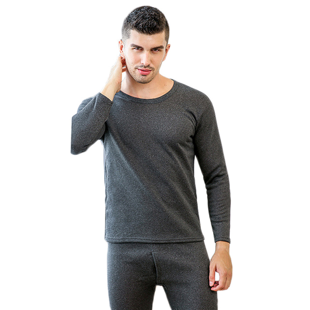 b1db649db8f9 YJSFG HOUSE Brand Men Winter Warm Long Johns Velvet Thick Inner Wear  Thermal Underwear Snow Long Johns Pajama Casual Hotsale Set